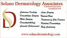 Solano Dermatology business card